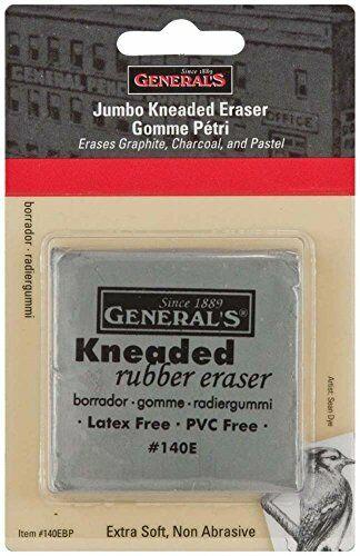 General Pencil GEN-140E-BP Jumbo Grey Kneaded Eraser Multicolor