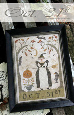 Oct. 31st Halloween With Thy Needle & Thread Cross Stitch Pattern