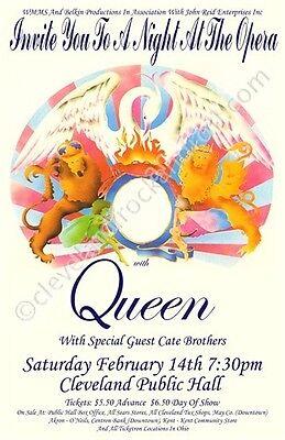 Queen 1976 Cleveland Concert Poster