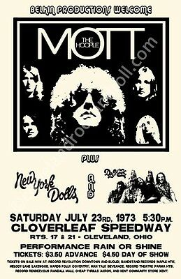 Mott The Hoople/New York Dolls Cleveland Concert Poster