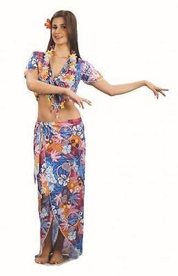 New Ladies Womens Girls Hawaiian Beauty Fancy Dress Costume Aloah Adults Outfit