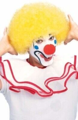 Yellow Clown Wig (RUBIE'S CLOWN WIG YELLOW AFRO CIRCUS HALLOWEEN COSTUME ACCESSORY ONE SIZE)