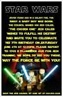 Lego Star Wars Invitations
