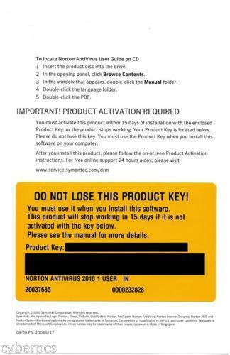 Norton Product Key: Antivirus & Security | eBay