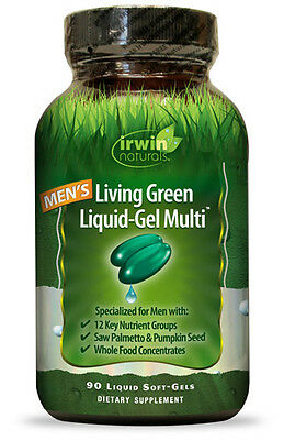 Irwin Naturals Living Green Liquid Gel Multi For Men Multivitamin - 90