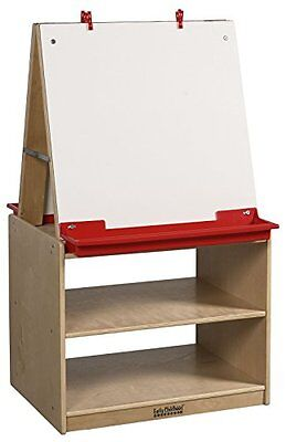 Ecr4Kids - Elr-0691 - 2 Station Art Easel With Storage New