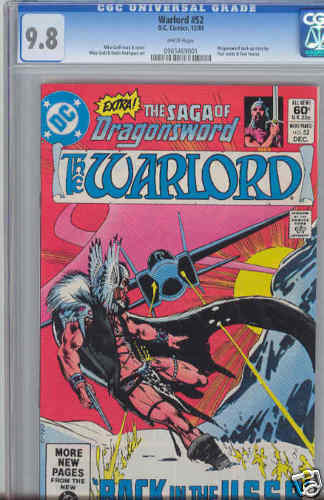Warlord 52 CGC 9.8 1980 DC Jet straffing USSR