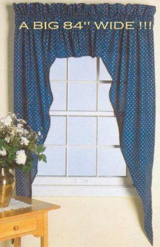 Blue Country Curtains Ebay