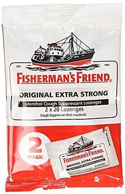 5 Pack Fishermans Friend Extra Strong Menthol Cough Suppressant 40 Lozenges Each