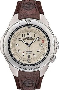 Timex-Mens-Expedition-Leather-Alarm-Watch-50-Meter-WR-Indiglo-T47902