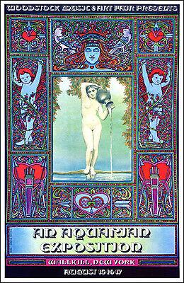 JIMI HENDRIX WHO GRATEFUL DEAD SANTANA Wallkill First Woodstock Concert Poster