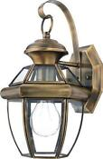 Brass Outdoors Light Fixture
