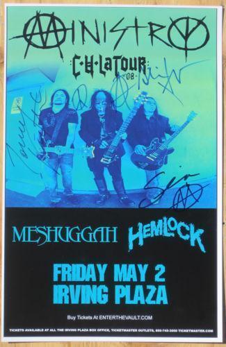 Signed Concert Poster Ebay