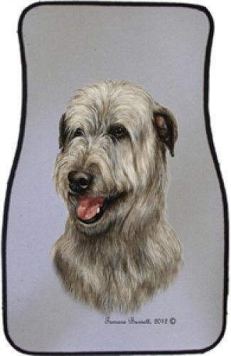 Irish Wolfhound Car Floor Mats Pair (TB) 36164