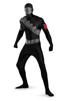 Mens Snake Eyes Bodysuit Halloween Costume XL 42-46
