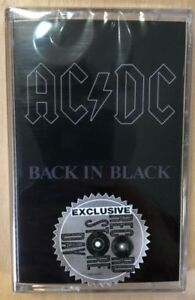 """AC/DC """"Back In Black"""" Cassette- Record Store Day 2018 Release"""