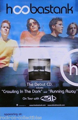 Hoobastank 2001 Debut Album Original Double Sided Tour Promo Poster