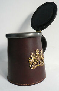 Leather & Pewter Tankard - Bar decor Cambridge Kitchener Area image 2
