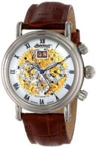 New  Ingersoll Mens IN2700WH Gandhi Watch Condition: New, with Brown Leather Band Stainless Steel Automatic