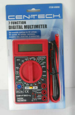 Multi-meter Cen-tech Digital Volt Ohm Amp Meter 7-function Volt Amp