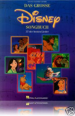 Das große Disney Songbuch - Noten Lieder