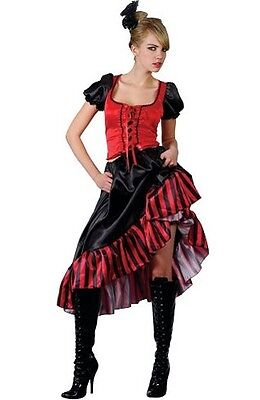 Saloon Girl (Can Can Saloon Girl Red Moulin Rouge Wild West Burlesque Costume XS to XXL)