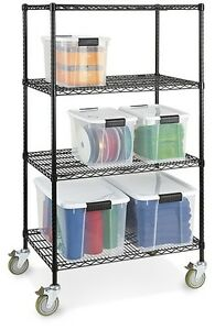Industrial Mobile Wire Shelves (from Uline) Strathcona County Edmonton Area image 1