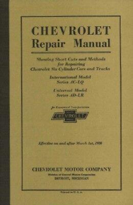 Chevrolet Car   Truck 1930 Shop Manual Chevy