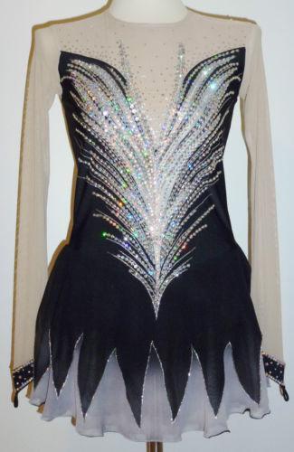 Black Ice Skating Dress Ebay