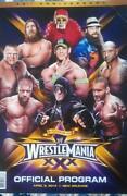 Wrestlemania Program