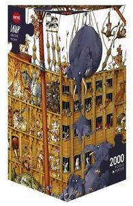 JIGSAW PUZZLE - HY25475 - Heye Puzzles - Triangular , 2000 Pc - Arche Noah, Loup