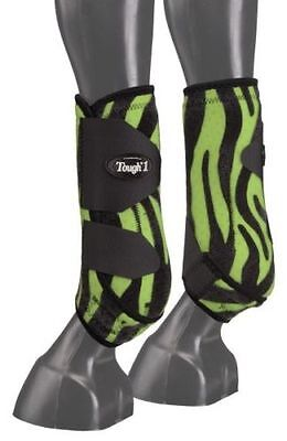 """Tough 1 Medium Red /""""No Turn/"""" Neoprene Bell Boots horse tack equine 64-15100"""