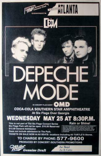 depeche mode poster ebay. Black Bedroom Furniture Sets. Home Design Ideas