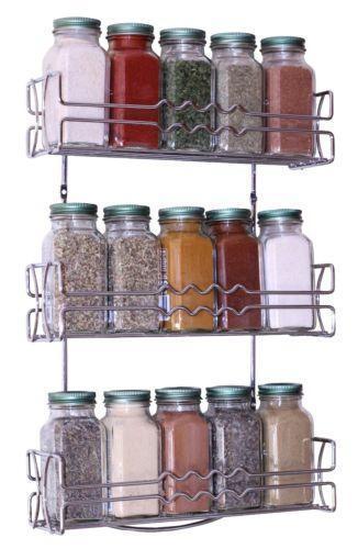wall mount spice rack ebay. Black Bedroom Furniture Sets. Home Design Ideas