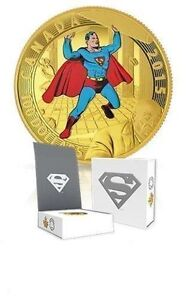 2015 GOLD $100 Superman 14-Karat Coin - Comic Superman #4 (1940)
