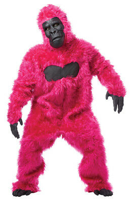Pink Gorilla Suit Ape Adult Halloween Costume