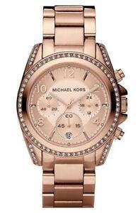 72b609f5c1423 Michael Kors Rose Gold Glitz Watch