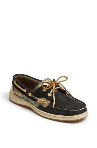 All Black Boat Shoes Womens