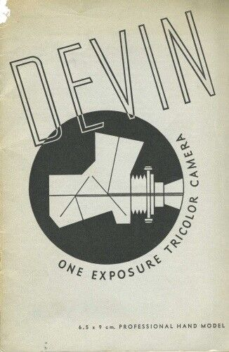 Devin One Exposure Tricolor Camera Catalog with Prices (1938)