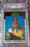 1986 Topps Traded Jose Canseco