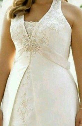 Used plus size 22 wedding dresses ebay for Used wedding dress size 0