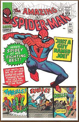 Amazing Spider Man  #38 poster art print '92  Steve Ditko Guy Named Joe