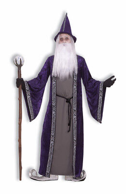 Mens Adult Halloween Costume (Wizard Magician Merlin Adult Mens Halloween)
