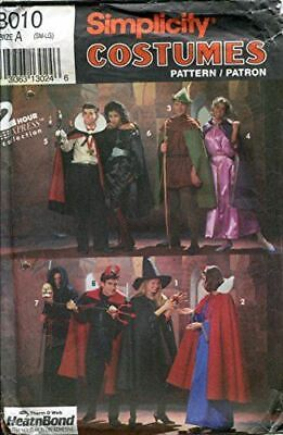 Monk Costume Pattern (Simplicity Sewing Pattern 8010 Adult Costumes Dracula Robin Hood Monk Size)