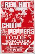 Red Hot Chili Peppers Tour Poster