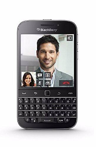 BlackBerry Classic UK SIM-Free 4G Smartphone (QWERTY Keyboard) - Black + Original Leather Case