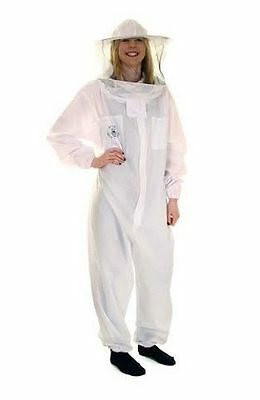 Us Buzz Basic Beekeeping White Round Veil Bee Suit- Size 4xl
