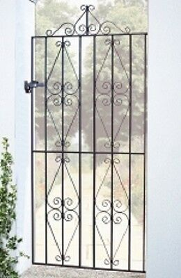 WROUGHT IRON METAL GARDEN SIDE GATE Watling T 2ft6-3ft4