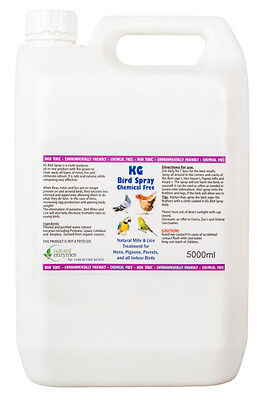 Bird Spray 5000ml Mite & Lice Treatment for Hens, Pigeons,Parrotts, Indoor Birds