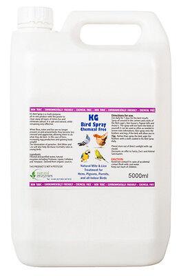Bird Spray 5000ml Mite & lice treatment for hens, pigeons,parrotts, indoor birds